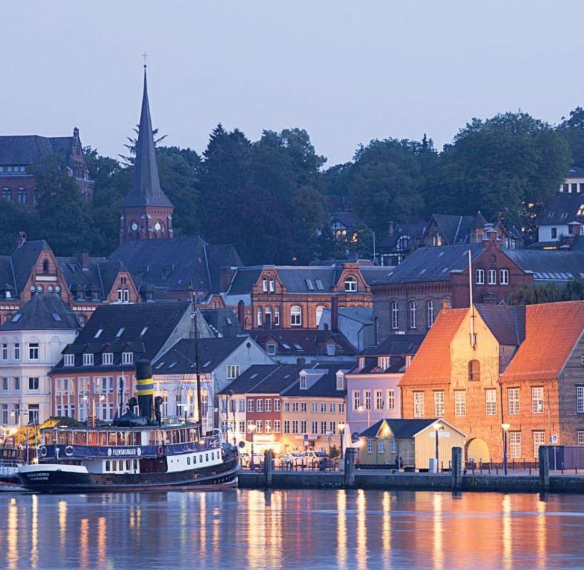 The harbor mile on the Flensburg Fjord