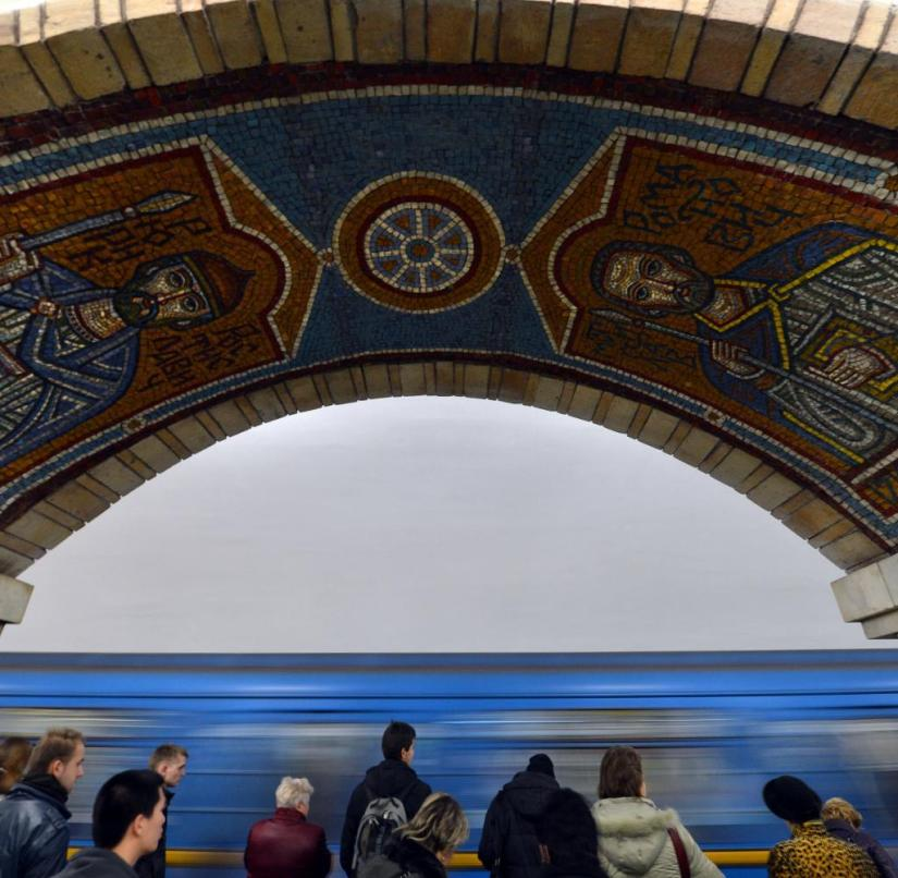 Ukraine: Metro is worthwhile in Kiev - if only to see the mosaics in the stations
