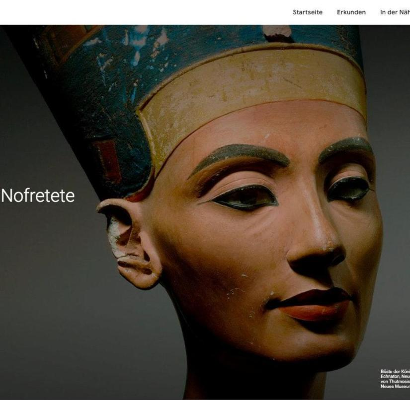 Looking Nefertiti in the eye: The Museum Island in Berlin shows virtual tours through its collections - from antiquity to modern times