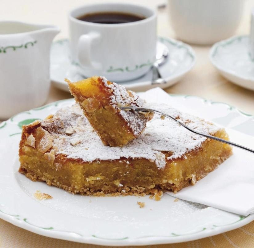 Almond cake in Mallorca (Balearic Islands, Spain)