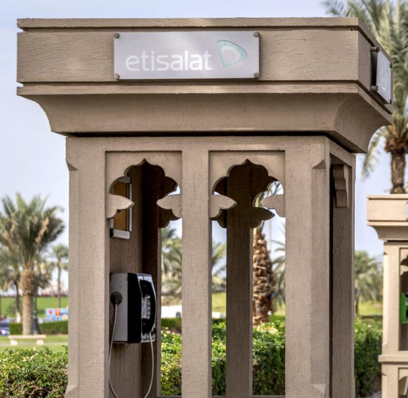 Sharjah: stone phone booths