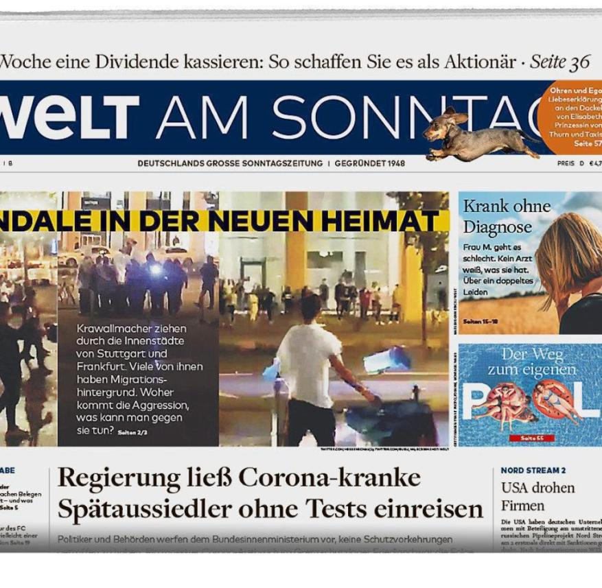 WELT AM SONNTAG from July 26, 2020
