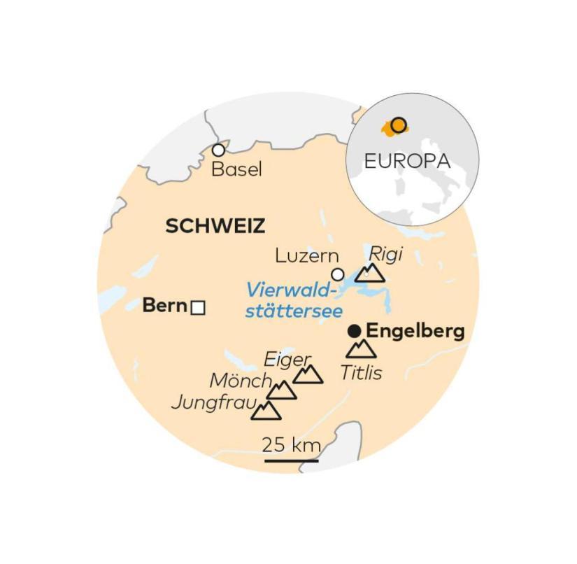 Rigi, Titlis and Engelberg in Switzerland