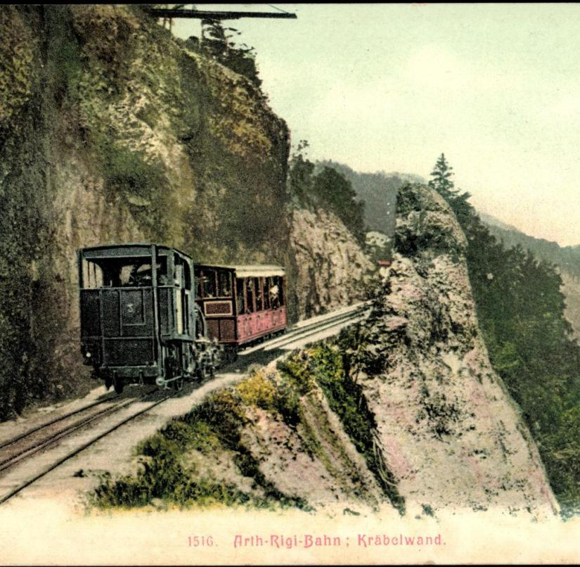 Switzerland: The Rigi Railway was opened as early as 1871