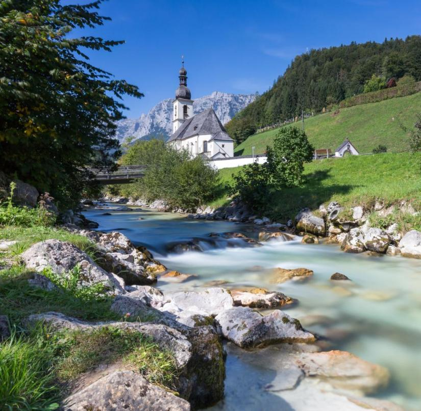 Bavaria: Ramsau also belongs to the Berchtesgaden National Park.  It is not surprising that the place attracted many painters as early as the 19th century
