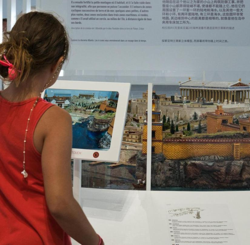 Atlantis or Santorini?  Museum visitors can find out how similar the islands are - with a touchscreen and insights from Plato