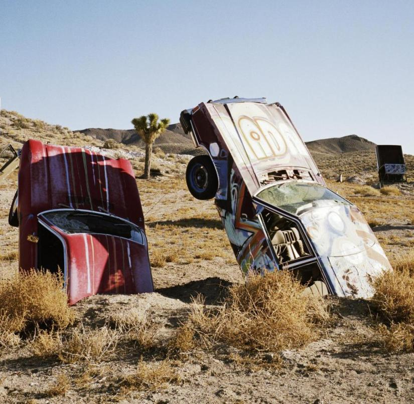 Der International Car Forest of the Last Church in Nevada, USA