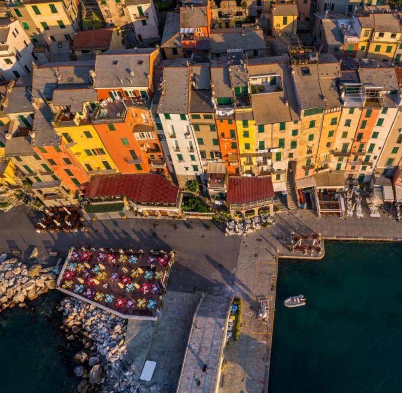 On the Ligurian coast: the small town of Porto Venere near Cinque Terre