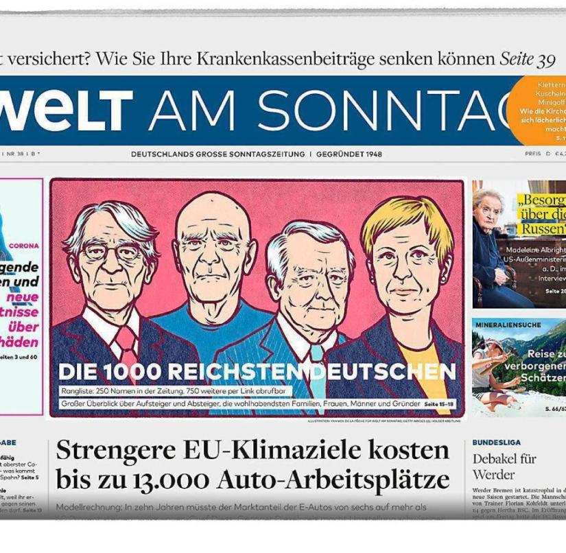 Welt am Sonntag from September 20, 2020