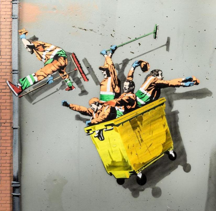 Ostend (Belgium): Jaune's little garbage collectors are doing nonsense everywhere