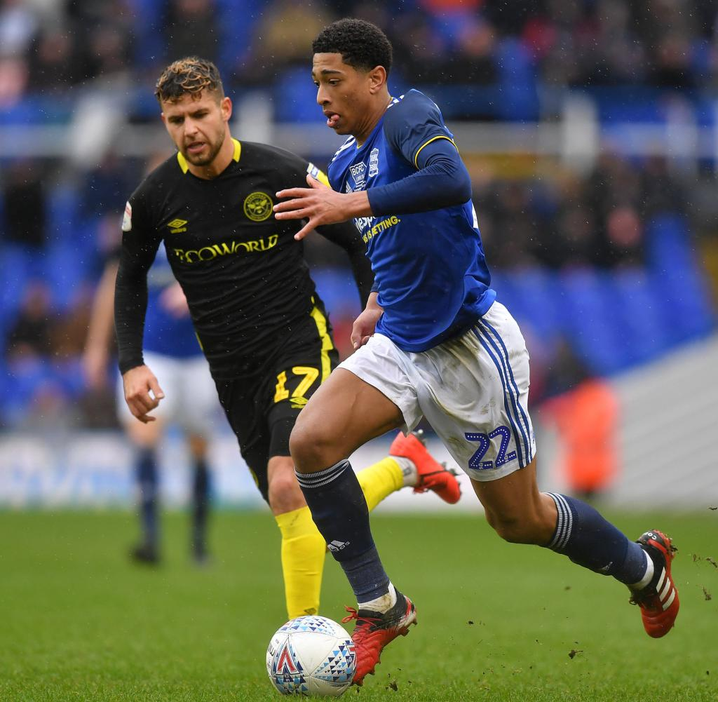 Jude Bellingham (right) is a record man: the 16-year-old is the youngest player ever to appear for Birmingham City