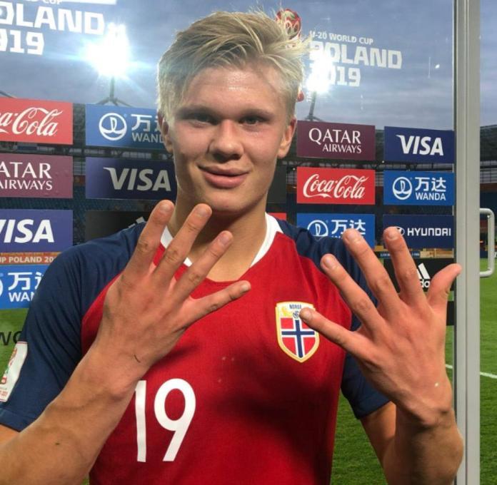 Erling Haland shows it: Nine times he got wet