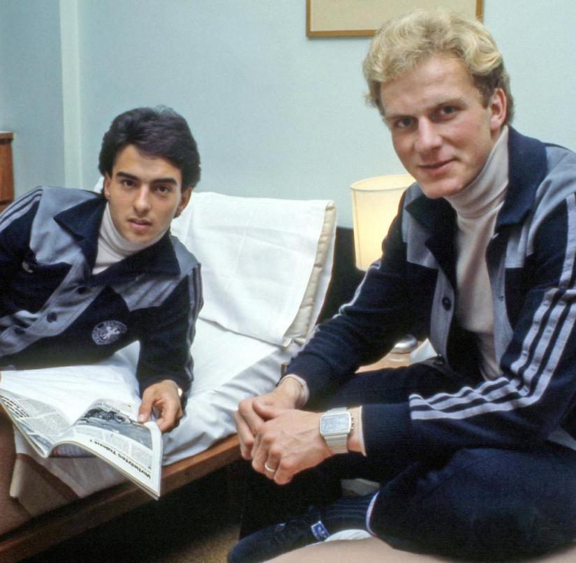 Double room at the DFB: Hansi Müller (left) and Karl-Heinz Rummenigge in the team quarters at the 1978 World Cup in Ascochinga