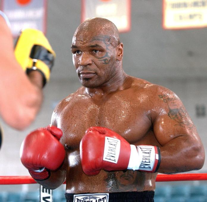 """Back in shape.  Tyson says when he retired in 2005 was his life """"been a complete mess and full of people who were poison to me"""""""