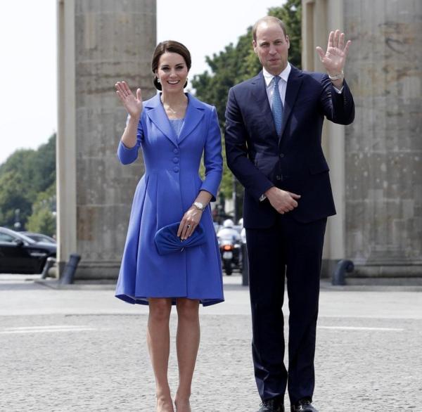 Kate William in Berlin Als Prinz George einen