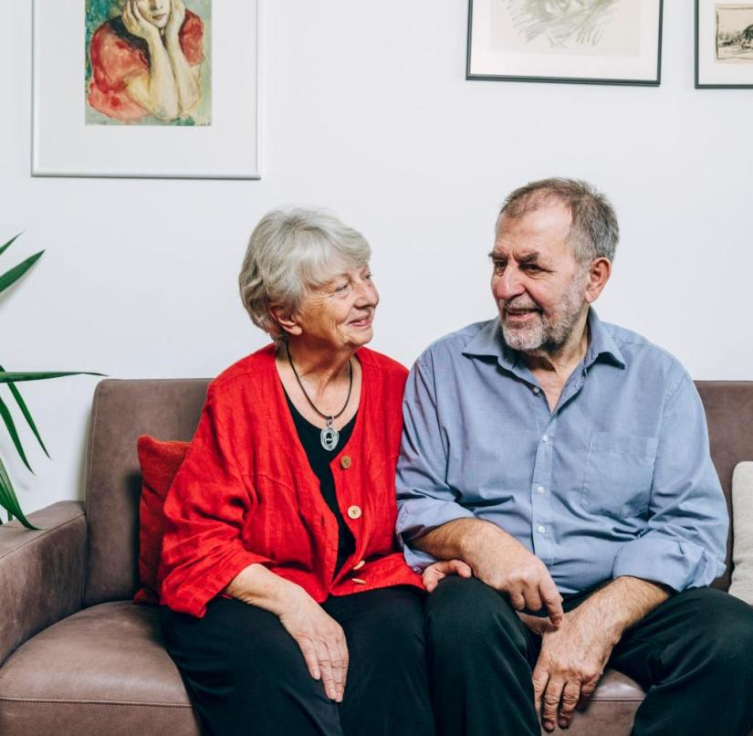 It was love at first sight only for him: Gundel and Christoph Seidler have been married for more than 50 years