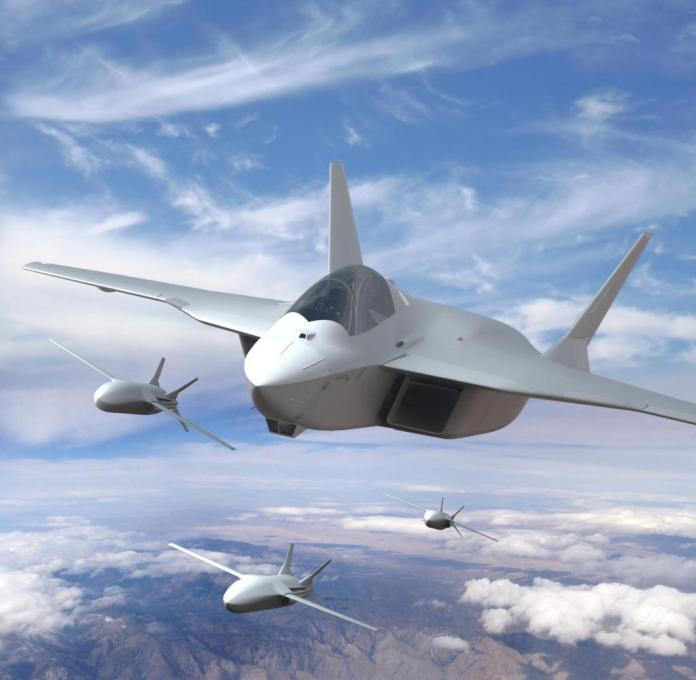 I got this picture from Airbus about the FCAS project.  It shows the new fighter jet (which does not yet have its own name) accompanied by giant drones (in the industry jargon: remote carrier).