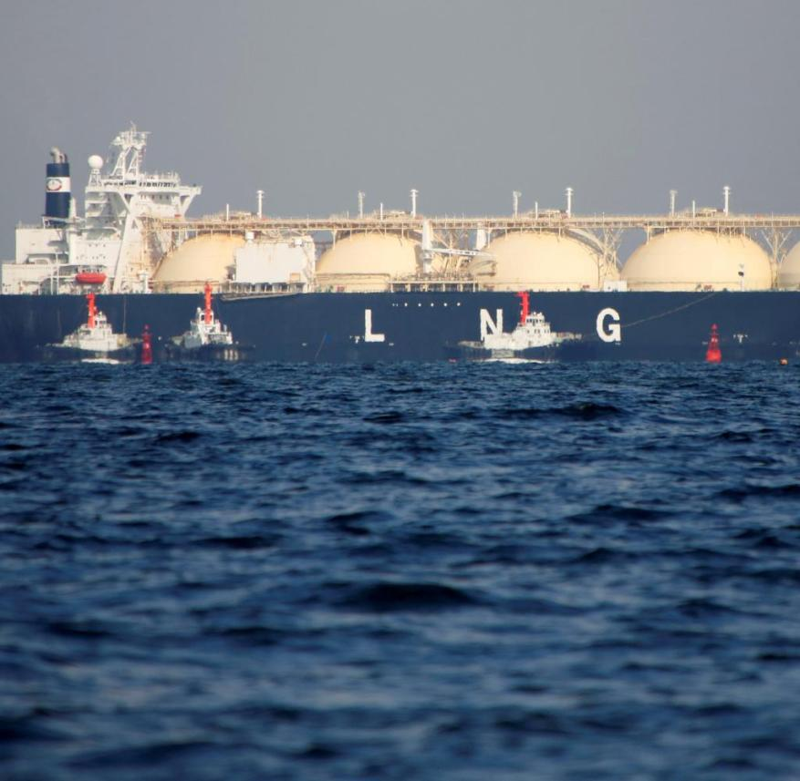 A tanker for liquefied petroleum gas (LNG).  Terminals are necessary so that such ships can call at Germany