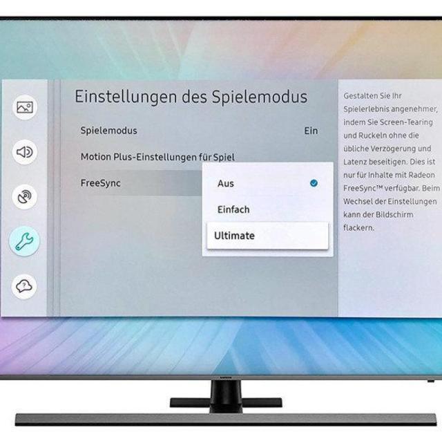 Der Samsung NU8049 verfügt über einen speziellen Spielemodus inklusive Freesync für Xbox One X und Computer mit entsprechender AMD-Technik