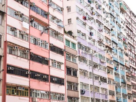 Hong Kong Detailansicht Wohnhaus