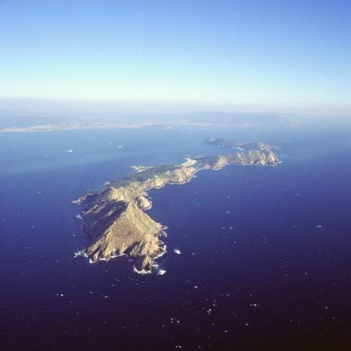 10 Vista aérea con Punta do Cabalo en primeiro plano-Illas Cíes