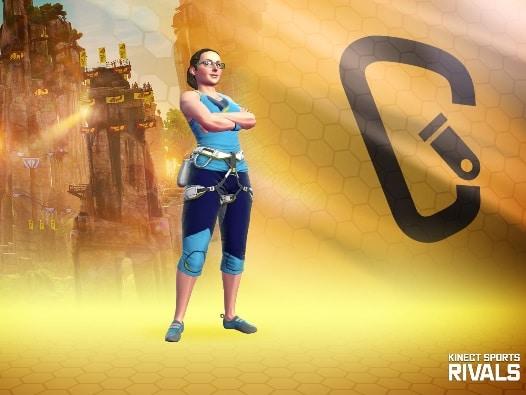 Kinect Sports Rivals, Multiplayer Spielerin der Redaktion, Rechte bei Microsoft