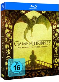 Blu-ray Cover - Game of Thrones - Die komplette 5. Staffel, Rechte bei Warner Home Video