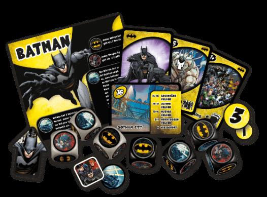 Spielmaterial - Justice League: Hero Dice, Rechte bei Heidelberger Spieleverlage
