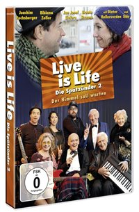 DVD Cover - Live is Life: Die Spätzünder 2 – Der Himmel soll warten, Rechte bei Universum Film