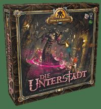 Brettspielschachtel - Iron Kingdoms - Die Unterstadt, Rechte bei Ulisses Spiele, Heidelberger Spieleverlag