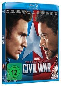 Blu-ray Cover - The First Avenger: Civil War, Rechte bei Disney