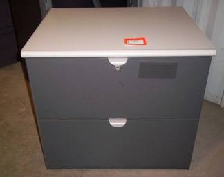 "2-Drawer Steelcase Brand 30"" Wide Lateral File Cabinet - Used"