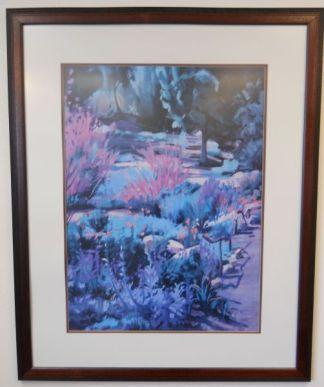 Art Print 6 - Pink Flowers / Tree - Used