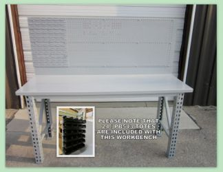 "Maximus ""Special Edition"" 6' Workbench With parts Bins and Pegboard"
