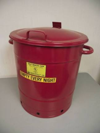 Lyon NF5495 21-Gallon Red Oily Waste Can - New Surplus