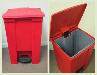 Rubbermaid #6144 Large Step-On Container with Liner - Used
