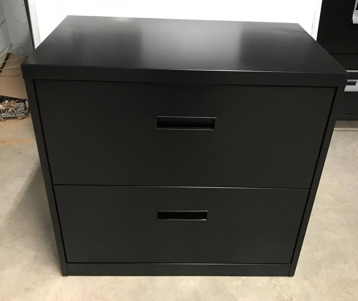 2 Drawer Steelcase Brand 30 Wide Black Lateral File Cabinet Used