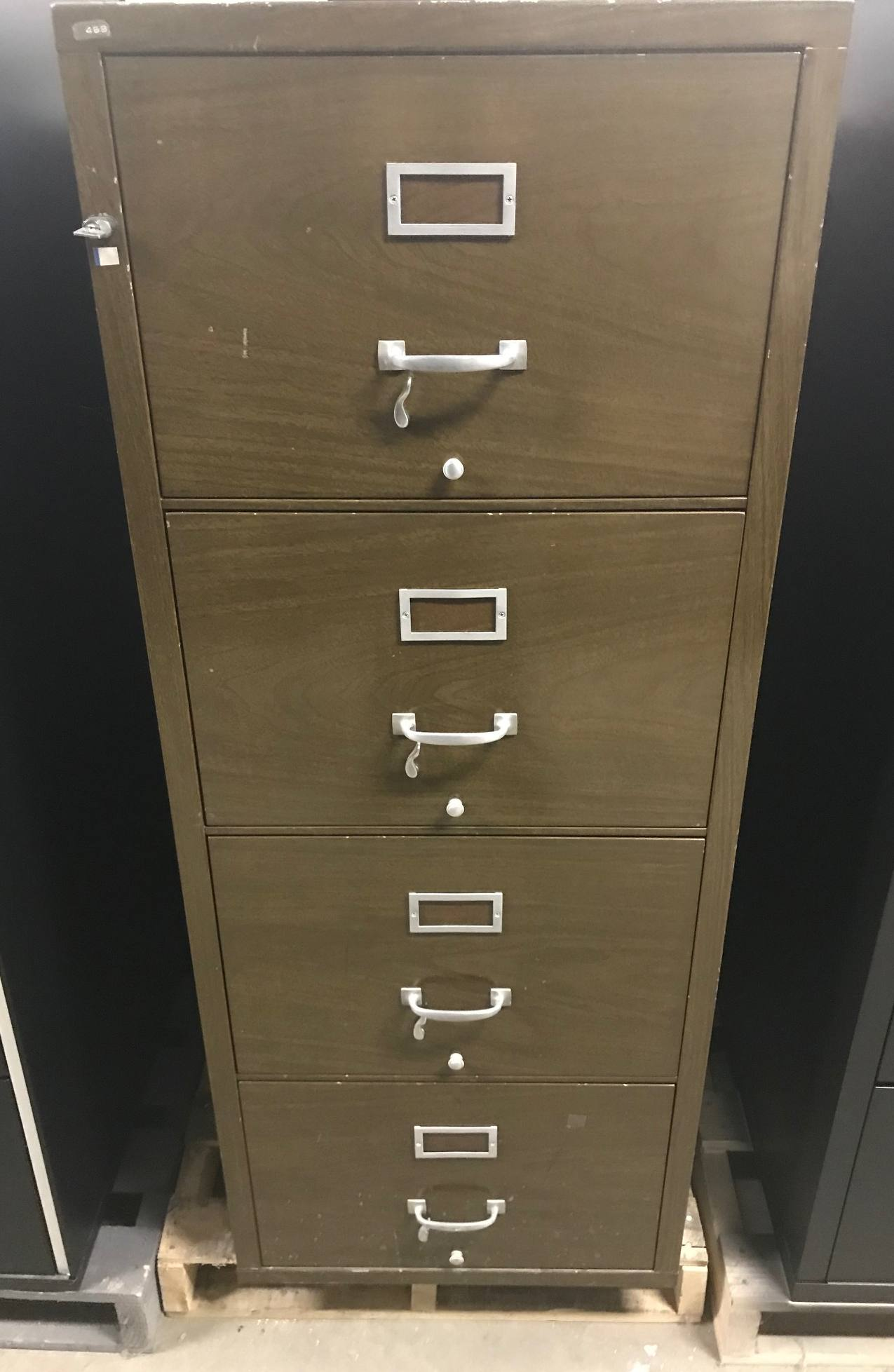 4 Drawer Shaw Walker Legal Fireproof Cabinet Used