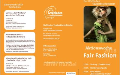 Aktionswoche 2018 – Fair Fashion