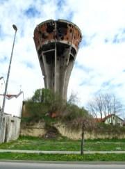 Wasserturm in Vukovar als Mahnmal