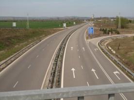 Autobahn nach Sofia
