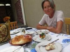 Hostels werden unter Radlern nach der Güte des Frühstücks bewertet. Hier im Rumi ist es super!