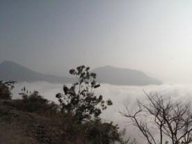 Morgens über den Wolken