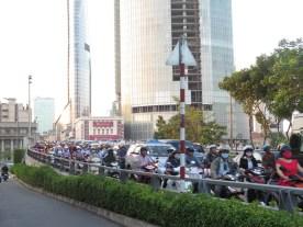 Saigon soll die Stadt mit der höchsten Mopeddichte der Welt sein.