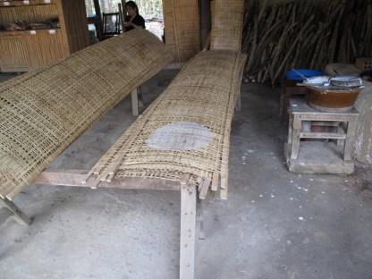 Reispapier-Herstellung