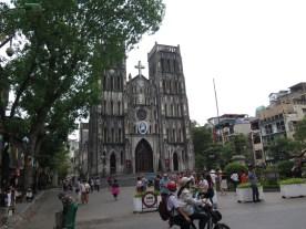 Kathedrale in Hanoi zu Pfingsten