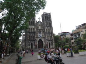Kathedrale in Hanoi zu Pfingsten