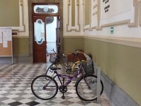 Fahrradständer im Rathaus