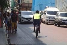 Polizeistreife auf Fahrrad