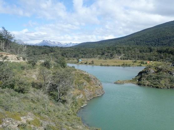 Lagune mit Campingplatz